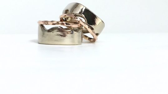 Our Turn - 14k palladium white gold, 14k rose gold
